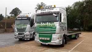 N Doe delivery trucks