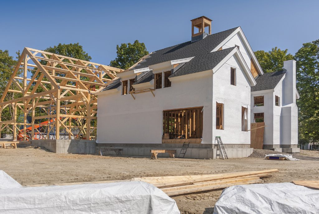 self build house in progress