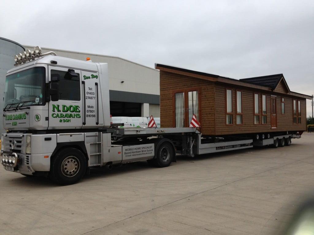 Transporting a static caravan
