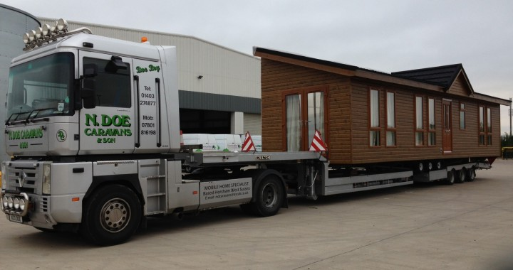 Transporting a static caravan