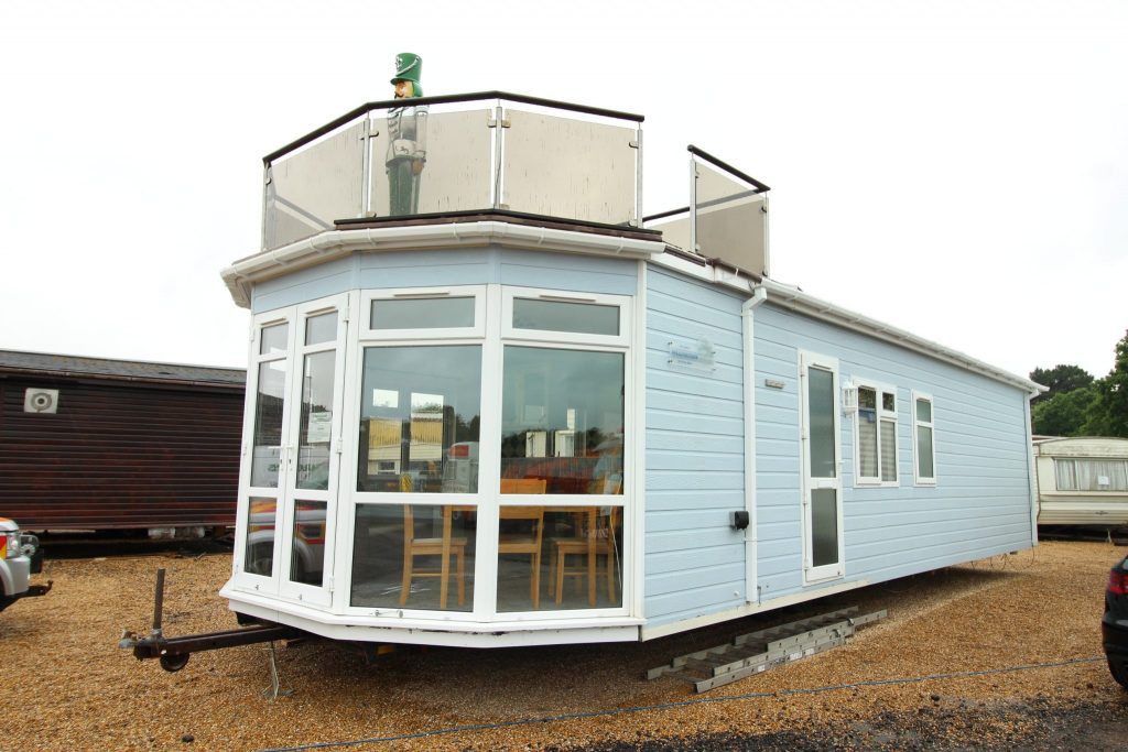 Stately Haulfryn Herald 40x14 Lodge With Roof Terrace - (SN 2455)