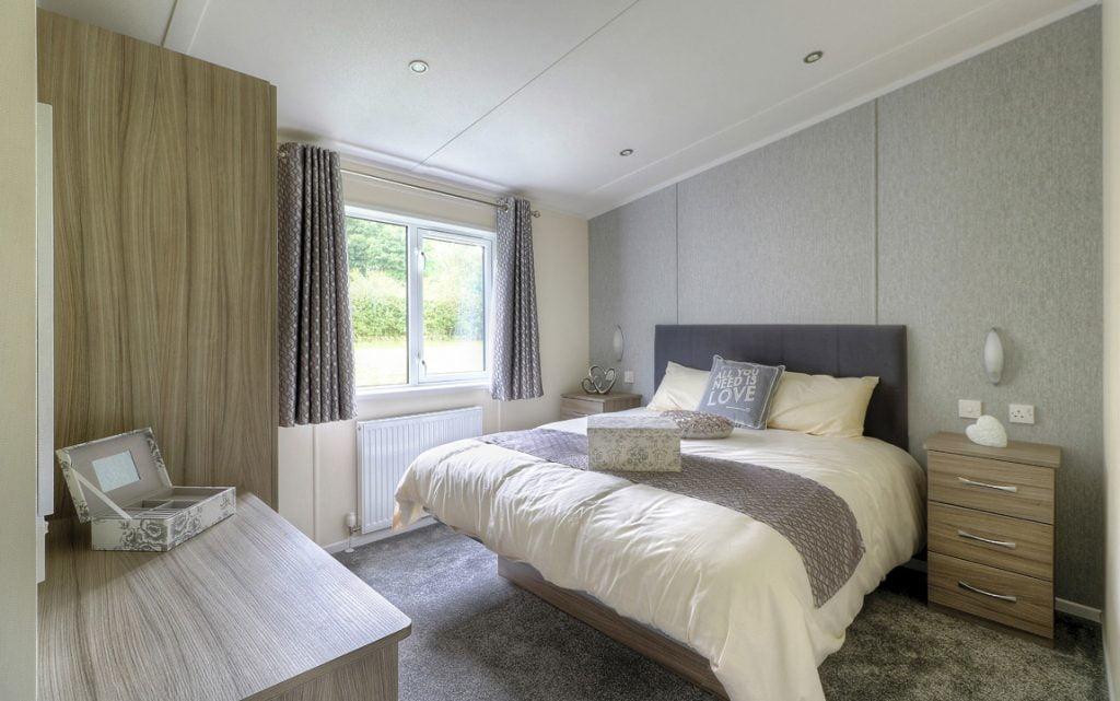 duvet and bedding in a caravan