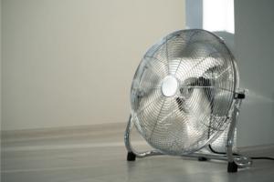 mobile fan on the floor